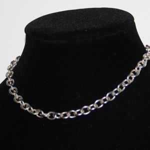 Sterling Silver Chain choker necklace 14""